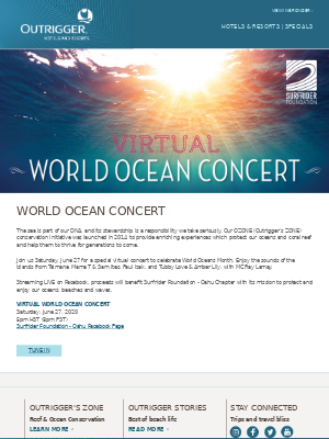 Outrigger Hotels - Virtual Vibes 🌊 World Ocean Concert