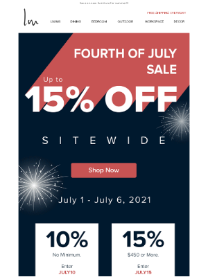 Lexmod - 🎆Fourth of July SALE!🎆 Up to 15% OFF starts now
