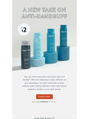 Harry's - Our new anti-dandruff range: Get $5 off