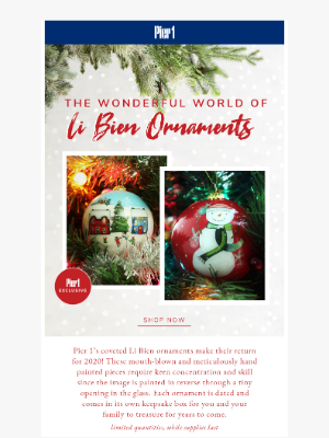 Pier 1 Imports - Act Fast: Li Bien Ornaments Have Arrived!