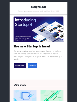 Designmodo - Introducing the New Startup 4, Slides and Postcards Updates, Design Mobile Product Pages, Email Designer Tools