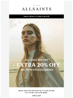 Extra 20% off all Sale styles
