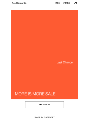More is More: Last Day