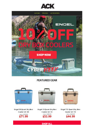 Austin Kayak - NEW Cyber Deal || 10% OFF Engel Dry Box Coolers