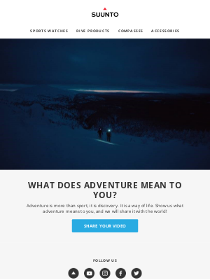 suunto - What does adventure mean to you?