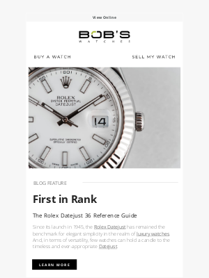Bob's Watches - A Timeless Rolex Model