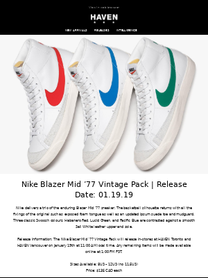 Releases: Nike Blazer Mid '77 & Converse x P.A.M.