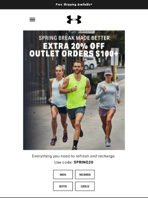 Bringing The 🔥 To Spring Break: Extra 20% Off Outlet