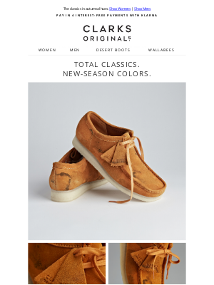 Clarks Shoes - Stand-out seasonal styles