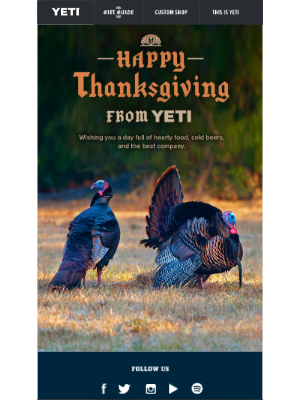 A Happy Thanksgiving From YETI to You