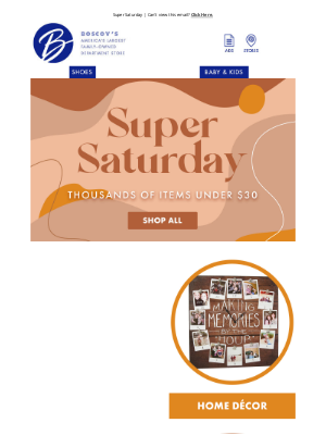 Boscov's - Super Saturday Has Arrived