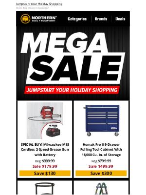 Northern Tool + Equipment - Mega Sale Is ON!