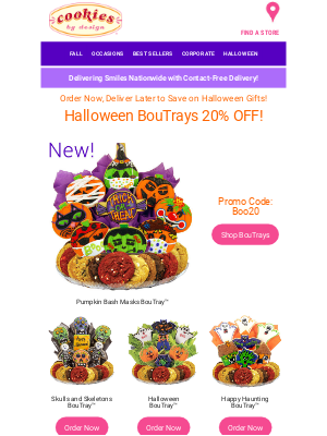 Cookies by Design - PRIME Day Sale – Our BIGGEST BooTray Blowout! 👻