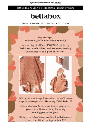 bellabox (AU) - Hey , take a peek inside our October box 💋