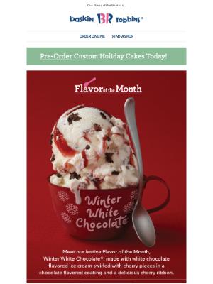 Baskin-Robbins - It's a white chocolate wonderland ❄️