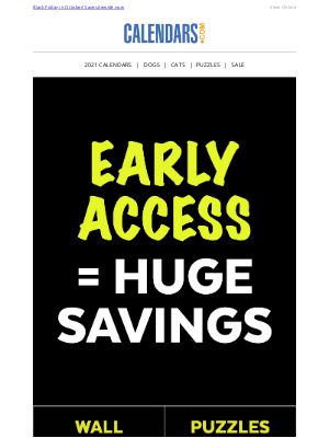 Calendars - Final Call for Early BLACK FRIDAY Savings
