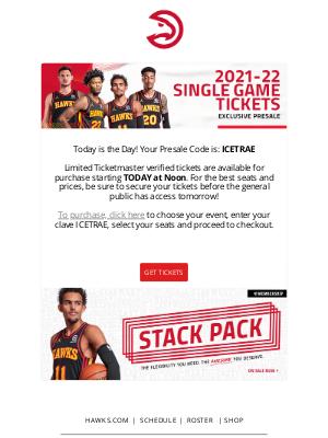 Atlanta Hawks - Hawks Fan! Your Presale Code is Inside