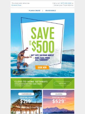 Royal Caribbean Cruises - Count this as a win for your Sunday – save up to $500 on your next vacation!