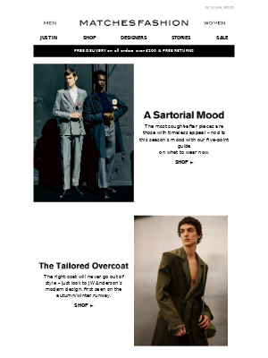 Matches Fashion (UK) - Five timeless pieces to add to your line-up