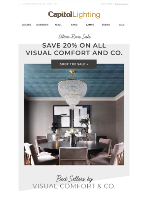 Capitol Lighting's 1800lighting - ➸ Save 20% on Visual Comfort and Co. (This Never Happens!)