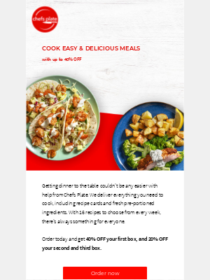 Chefs Plate (CA) - Up to 40% OFF ✔️ Delicious meals ✔️ Time and money saved 😍