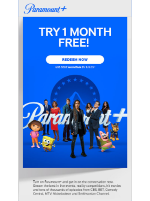 CBS - Virginia, don't miss out on 1 month FREE & start streaming on Paramount+!