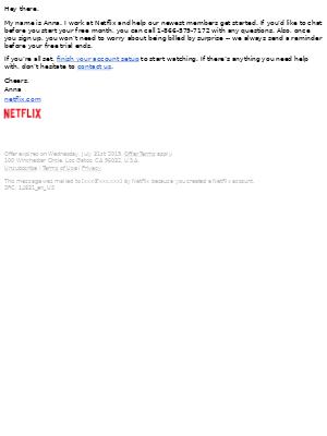 Netflix - 30 days free.