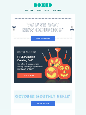 Boxed - This email has it all: Coupons, deals, and much more just for YOU!