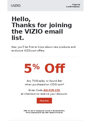 Your 5% OFF Discount