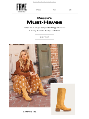 The Frye Company - Maggie's Picks: Spring '21 Must-Haves