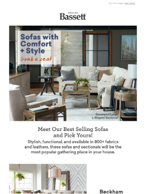 Bassett Furniture Industries - Sofas And Sectionals You'll Love
