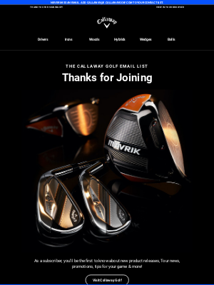 Callaway Golf - Welcome To Callaway Golf