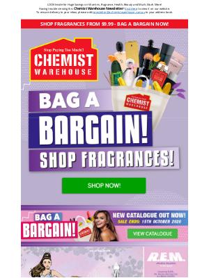 Chemist Warehouse Australia - Shop Fragrances from $9.99 - Bag a Bargain Now!
