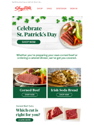 ShopRite Stores - Lucky you! We have your St. Patrick's Day covered ☘️