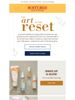 Burt's Bees - Curated skin care rituals to reset your skin.
