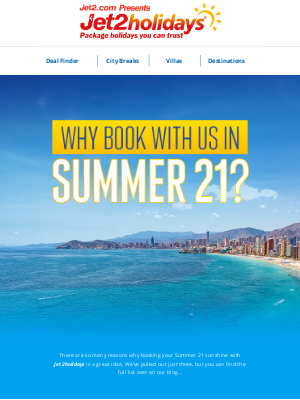 Jet2 (UK) - Top reasons to book with Jet2holidays next summer…