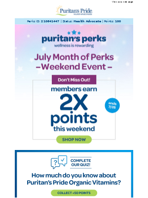 Back for a limited time! Earn 2x points