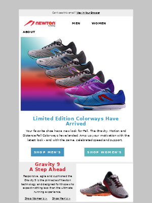 Newton Running - Fall Colors: New Gravity/Motion/Distance Limited Edition