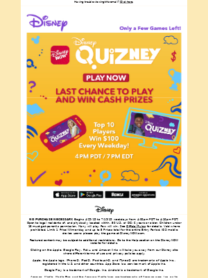 Play for a chance to win every weekday!
