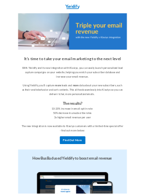 Yieldify - How to triple your email marketing revenue