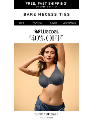 Bare Necessities - Up To 40% Off These Wacoal Styles
