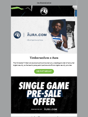 Minnesota Timberwolves - Announcing Timberwolves x Aura