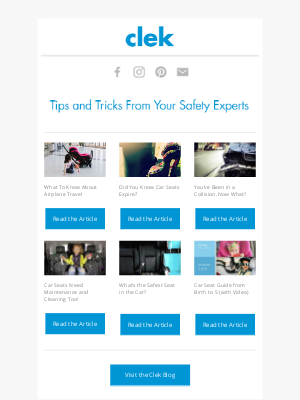 Clek - Tips and Tricks from Your Safety Experts