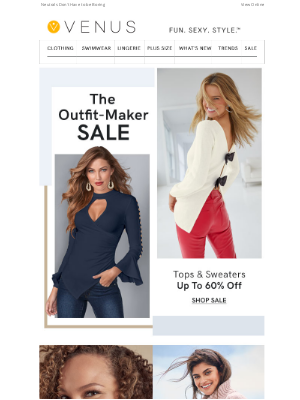 VENUS Fashion - Tops & Sweaters up to 60% Off