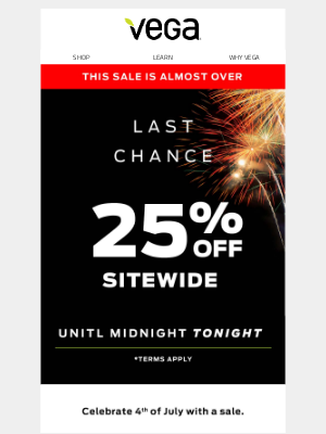 Last chance to shop the 4th of July Sale