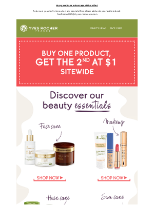 Discover our beauty essentials at $1