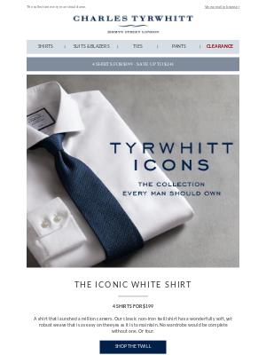 Tyrwhitt Icons: The iconic white shirt