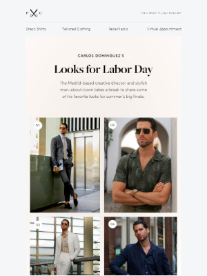 Proper Cloth - Favorite Labor Day Weekend Looks with Carlos Dominguez