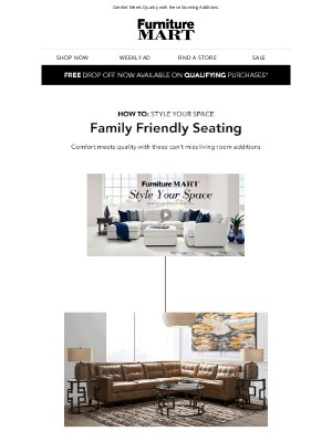 The Furniture Mart - 💡 Style Your Space: Family Friendly Seating