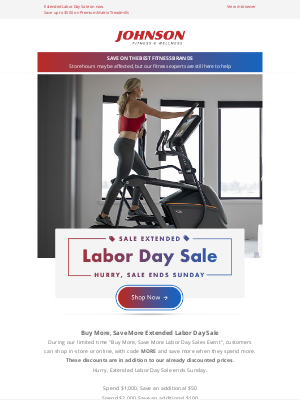 Johnson Fitness - Extended Labor Day Sale⭐ Shop Top-Rated Fitness Equipment